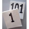 Dorsali neutri 16x18 numerazione da 1-100 (pz. 100)