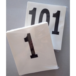 Dorsali neutri 16x18 numerazione da 101-200 (pz. 100)