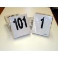 Pettorali neutri PVC 16x18 numerazione da 301-400 (pz. 100)