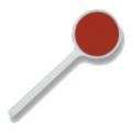 Paletta per addetti al traffico con dischi rossi in materiale retroriflettente