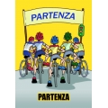 "Cartello fumetto ""PARTENZA"""