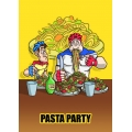 "Cartello fumetto ""PASTA PARTY"""