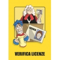 "Cartello fumetto ""VERIFICA LICENZE"""