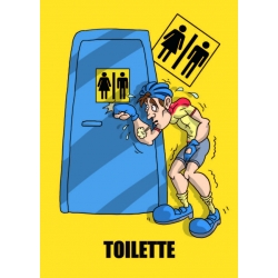 "Cartello fumetto ""TOILETTE"""