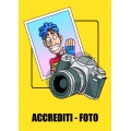 "Cartello fumetto ""ACCREDITI"""