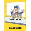 "Cartello fumetto ""SALA STAMPA"""