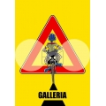 "Cartello fumetto ""GALLERIA"""