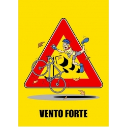 "Cartello fumetto ""VENTO FORTE"""