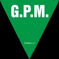Triangolo VERDE GPM in PVC