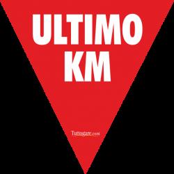 Triangolo ROSSO ultimo km in PVC