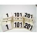 Numeri neutri adesivi per casco 11x12 numerazione da 201-300