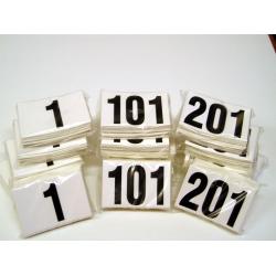 Numeri neutri adesivi per casco 11x12 numerazione da 101-200